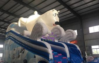 冰熊充气水滑梯